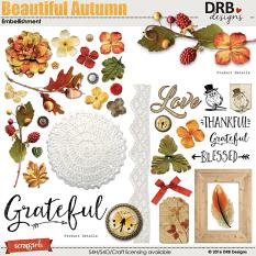 Beautiful Autumn Embellishment by DRB Designs | ScrapGirls.com