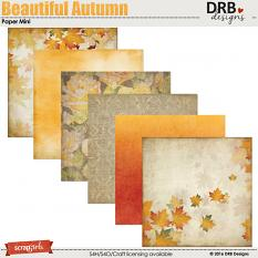 Beautiful Autumn Paper Mini by DRB Designs | ScrapGirls.com