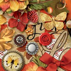 Beautiful Autumn Embellishment Closeup
