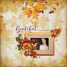 """Grateful"" digital scrapbook layout by Darryl Beers"