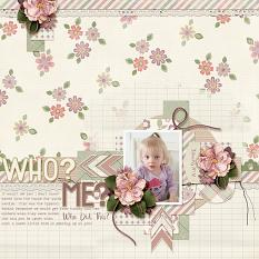 """""""Who? Me?"""" layout using Always and Forever Collection"""