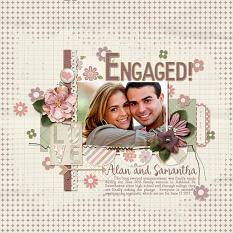 """Engaged"" layout featuring Always and Forever Collection"