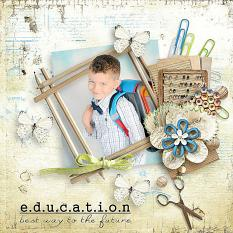 school layout using Happy School Days Collection by D's Design