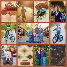 Layout using ScrapSimple Digital Layout Album Templates: 12x12 Messy Stitched Pocket Life 5