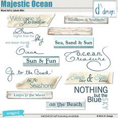 majestic ocean word arts & labels by d's design