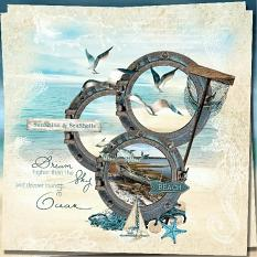beach layout using majestic ocean collection by d's design