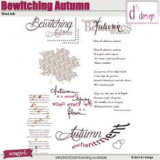 bewitching autumn word arts by d's design