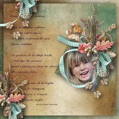 autumn layout using bewitching autumn by d's design