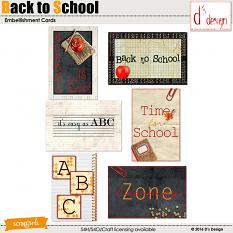 back to school cards by d's design