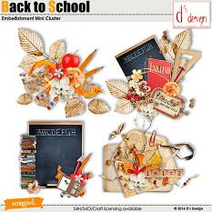 back to school clusters by d's design