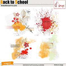 back to school embellishment accents by d's design