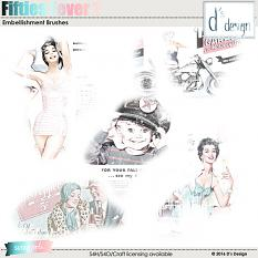 fifties fever 1 brushes by d's design