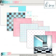 fifties fever 2 paper by d's design