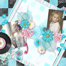 fifties layout using fifties fever 2 by d's design