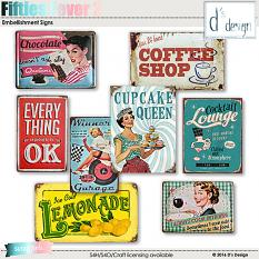 fifties fever 2 signs by d's design