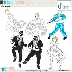 fifties fever 3 characters by d's design