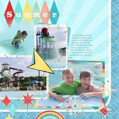 Layout using ScrapSimple Digital Layout Album Templates: 12x12 Singles Biggie