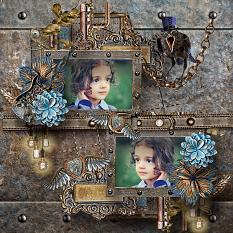 steampunk layout using mysterious world by d's design