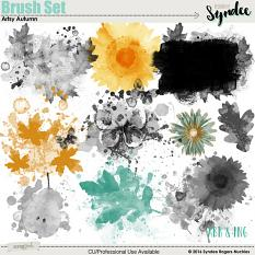 Artsy Autumn Digital Brush Set