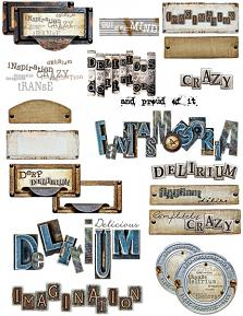 deep delirium tags & word arts by d's design