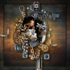 steampunk layout using deep delirium by d's design