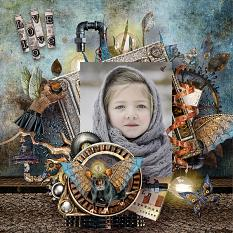 steampunk layout using oneiric universe by d's design