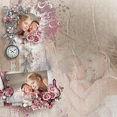 vintage layout using pieces of yesterday by d's design