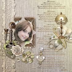 vintage layout using tempus fugit by d's design