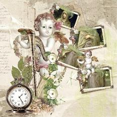 vintage layout using light whispers by d's design