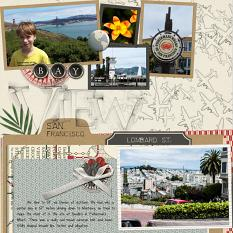 (L side) Layout using ScrapSimple Digital Layout Album Templates:12x12 Two Page Spreads 4