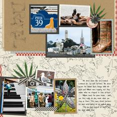 (R side) Layout using ScrapSimple Digital Layout Album Templates:12x12 Two Page Spreads 4