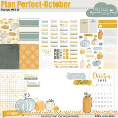 Plan Perfect - October Mini Planner Kit