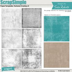 ScrapSimple Paper Templates: Textured Overlays 4 Prev