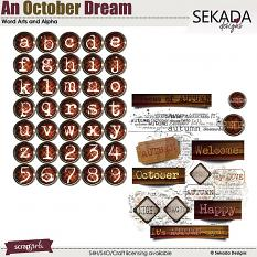An October Dream Word Arts and Alpha