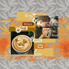 ScrapSimple Word Art Templates: Warm and Cozy Tags Layout
