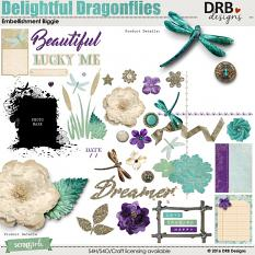 Delightful Dragonflies Embellishment Biggie by DRB Designs | ScrapGirls.com