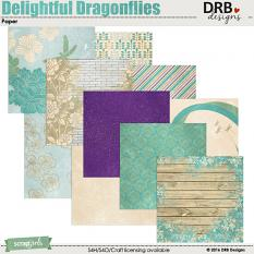 Delightful Dragonflies Paper by DRB Designs | ScrapGirls.com
