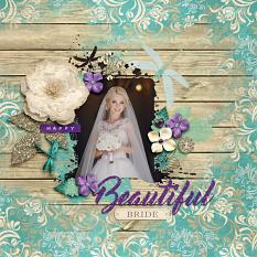 """Beautiful Bride"" Digital Scrapbook Layout by Darryl Beers"