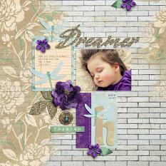 """Dreamer"" Digital Scrapbook Layout by Darryl Beers"
