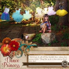 """Dance Princess"" digital scrapbook layout"