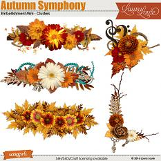 Autumn Symphony Embellishment Mini Clusters