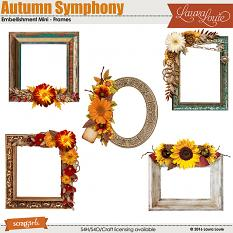 Autumn Symphony Embellishment Mini Frames