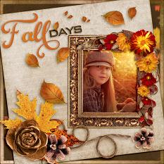 """Fall Memories"" digital scrapbook layout by Laura Louie"