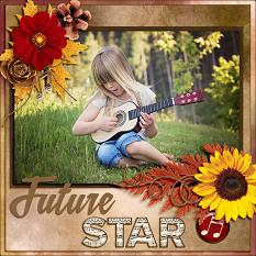 """Future Star"" digital scrapbook layout by Laura Louie"