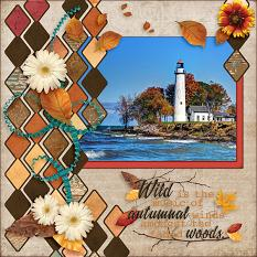 Wild are the Winds digital scrapbook layout by Laura Louie