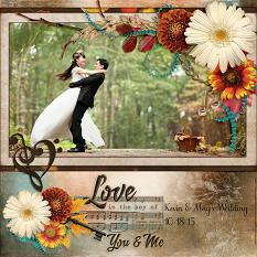 Love in the Key digital scrapbook layout by Laura Louie
