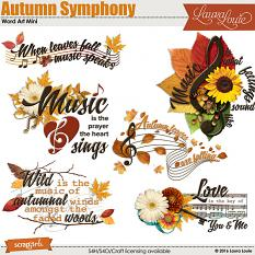 Autumn Symphony WordArt Mini