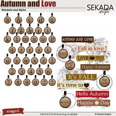 Autumn and Love Word Arts and Alpha