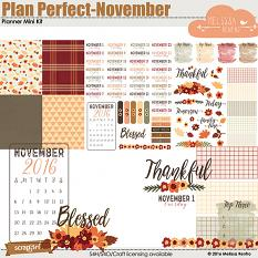 Plan Perfect - November Mini Planner Kit
