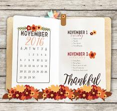 PlanPerfect November Mini Planner Kit Layout